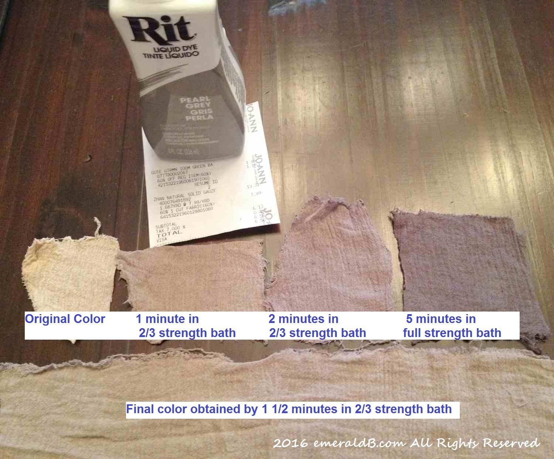 How to make fabric dye - Rey Costume Wrap Dye
