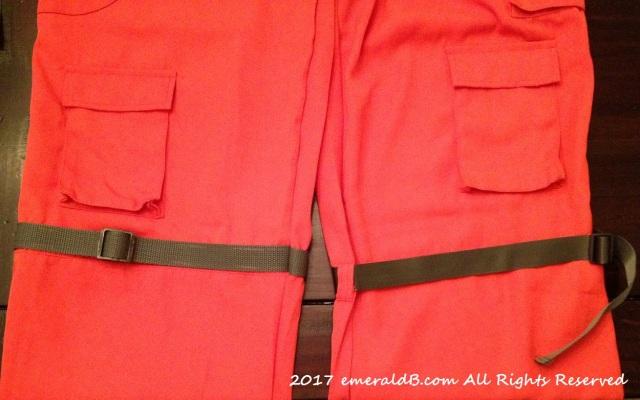 flight suit leg straps