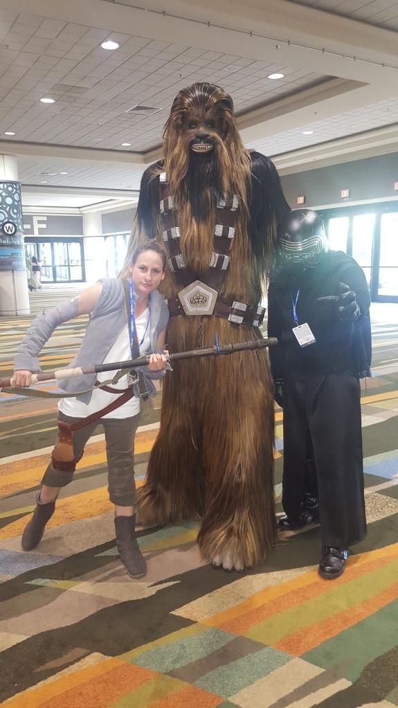 Kylo Ren & Resistance Rey with Chewbacca