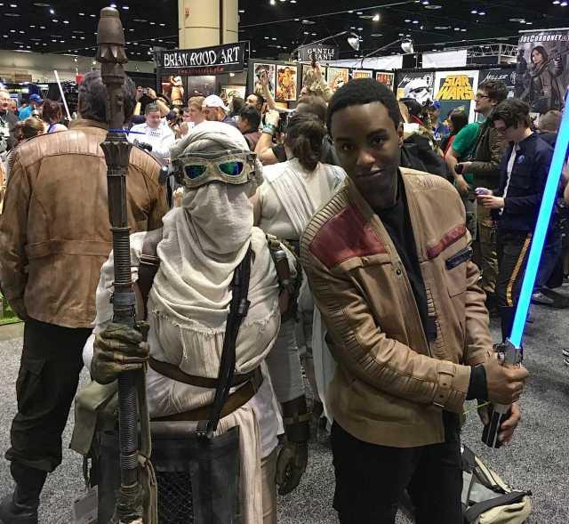 Rey with Finn